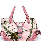 Realtree Belt Buckle Purse Camouflage Handbag Camo Pink Large
