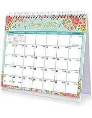 STOBOK 2022 Desk Calendar, Floral Desktop Calendar 2022 Monthly Desktop Calendar Jan.- Dec. Calendar Planner Standing Up Desk Calendar for Family Office School