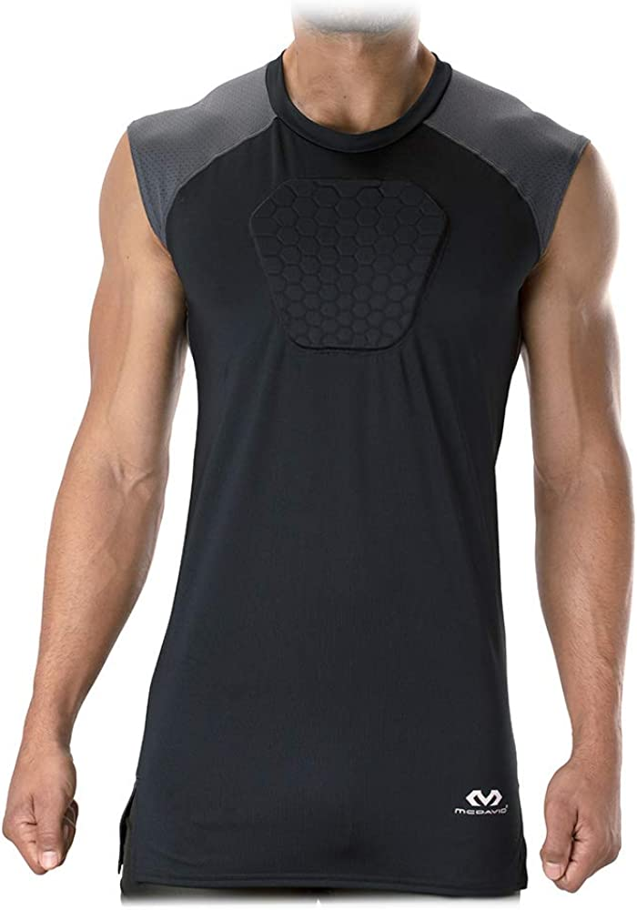 McDavid HEX Chest Protector, Heart Guard Sternum Protection Padded Shirt for Baseball, Football, Lacrosse and Goalies Youth and Adult Sizes : Sports & Outdoors