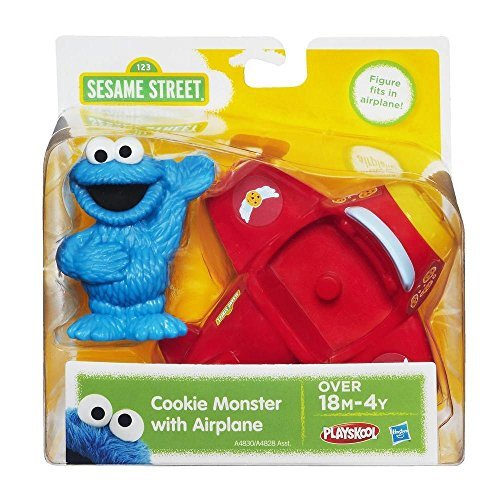 (Playskool Sesame Street Cookie Monster with Airplane,Red)