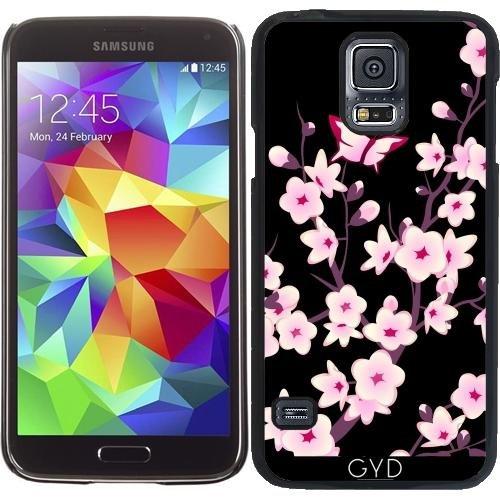 Funda para Samsung Galaxy S5 (SM-G900) - Flores De Cerezo Negro Rosa by Nina Baydur