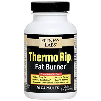 Fitness Labs Thermo Rip Fat Burner with Green Tea, Bitter Orange, Green Coffee Bean, Caffeine, L-Tyrosine and more