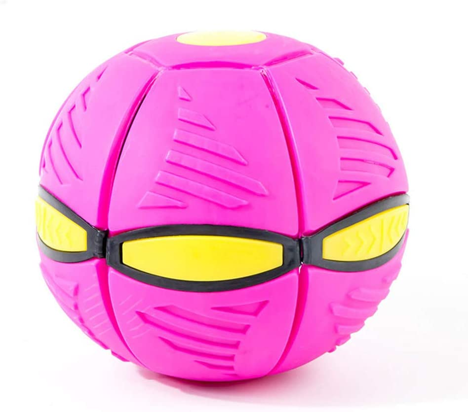 zyfun Phlat Ball Ufo Flat Ball Indoor And Outdoor Toy Balls Kid Toy Ball Garden Beach Game Pet Toy Shine And Accompany Music