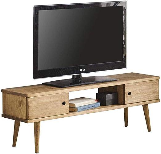 Hogar24-Mesa televisión, Mueble TV salón diseño Vintage, 2 Puertas ...