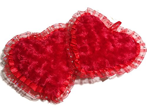 Plush Hearts Small Pillows Red Valentine's Love Gift - Pack of 2