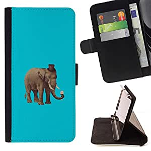 Momo Phone Case / Flip Funda de Cuero Case Cover - Hipster elefante;;;;;;;; - Sony Xperia Z2 D6502