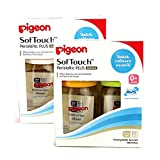 PIGEON version PPSU 160 ml with cork Softouch Peristaltic Plus Size SS Pack 4 bottles. 0 month+