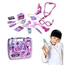 Itian Children Doctor Nurse Medical Kit Playset With Medical Box-Purple