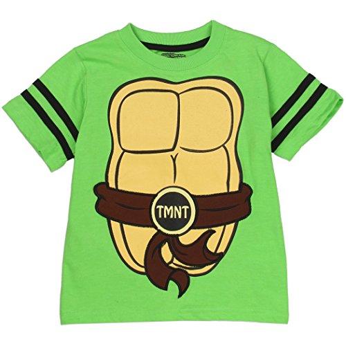 Ninja Turtles Toddler Little Boys T-Shirt w/ Shell Cape (3T, Green)]()