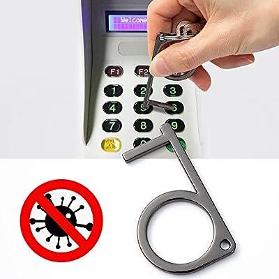 Longzheyu Stylus Keychain Tool Non Contact Door Opener Reusable Portable Healthy Handheld Keychain Tool Avoid Dirty Environmental: Automotive