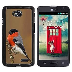 TopCaseStore / la caja del caucho duro de la cubierta de protección de la piel - Bird Nature Red Ornithology - LG Optimus L70 / LS620 / D325 / MS323