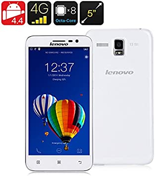 Lenovo A8 / A806 4G Libres Smartphone 5.0 inch 2GB+16GB 13MP Android 4.4 MTK6592/MTK6290 Octa Core 1.7GHz, FDD-LTE/WCDMA/GSM, Blanco: Amazon.es: Electrónica