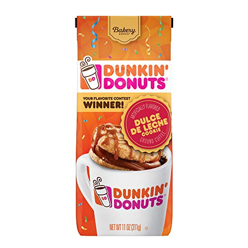 Dunkin' Donuts Bakery Series Ground Coffee, Dulce de Leche, 11 Ounces, 6 Count