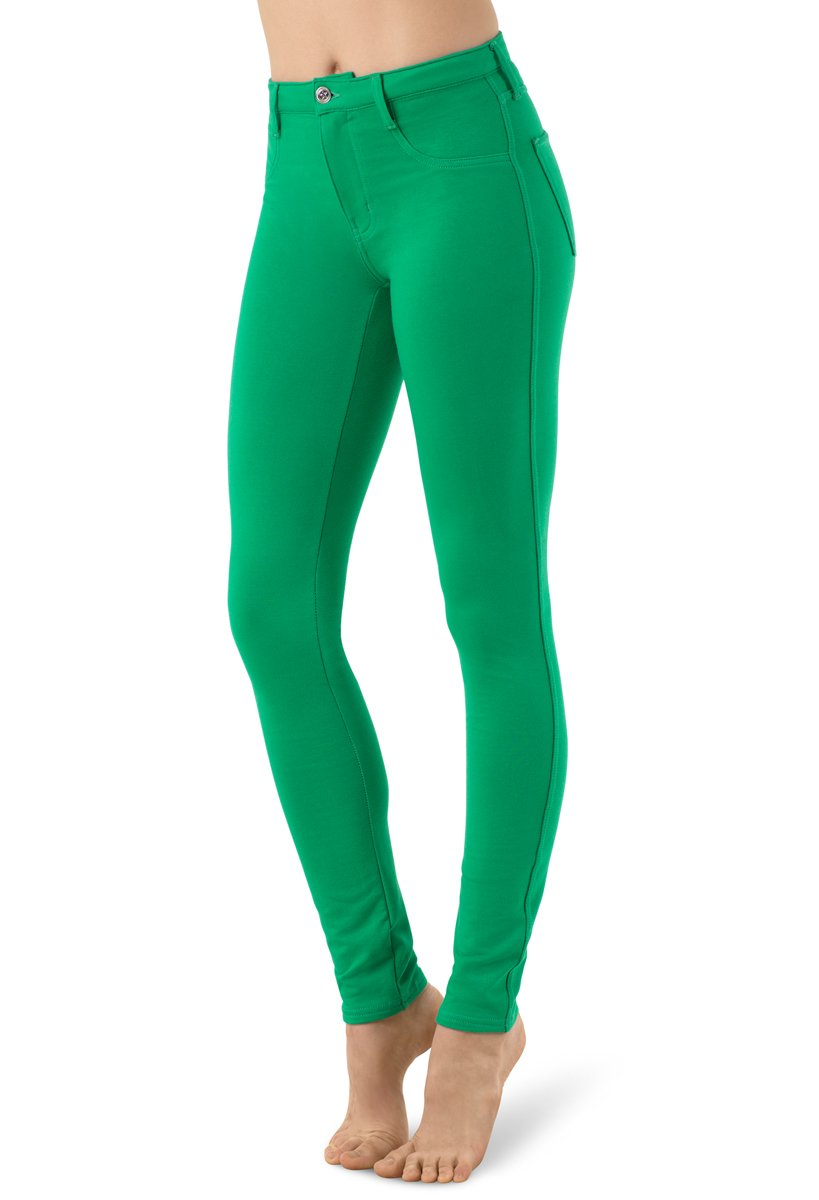 Balera Jeggings Womens Denim Leggings For Dance Girls Pants With Mid Rise Fit and Bright Colors Kelly Child Large by Balera