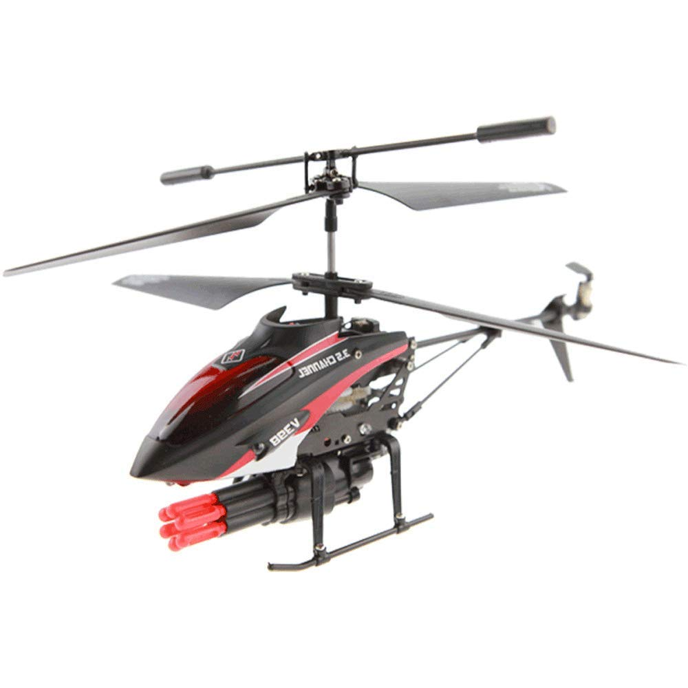 AXJJ RC Elicotteri Helicopter Remote Control con Gyro e LED Light 3.5-Channel Mini Helicopter Toy con Telecomando Indoor per Bambini e Adulti Regalo Principianti