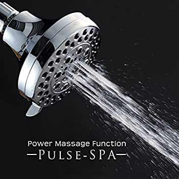 Albustar 5 Function Pulse-spa Series Luxury Shower Head With Massage Experience, Wall-mounted, High Pressure, Easy Installation, Chrome Finish 4