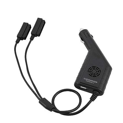 Zyyini Drone Battery Car Adapter, 2 en 1 Cargador de Coche ...