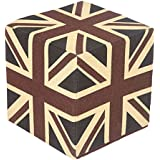 Homescapes Cotton Union Jack Design Cube Pouffe - 36 x 36 x 38 cm by Homescapes