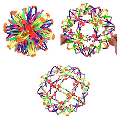 Qenci Kids Expanding Ball Toy Multi Coloured Ball Children Flexible Stress Ball 1Pcs