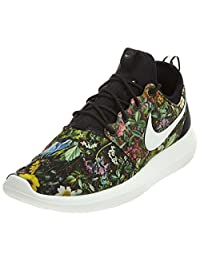 Nike Women's Wmns Roshe Two Print, BLACK/SUMMIT WHITE-PRISM PINK, 7 US