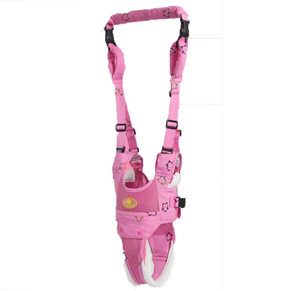 Baby Walker Harness, Toddler Reins for Walking Safety - Lost Strap - Eholder 2 in 1 Child Adjustable Walking Assistant Leash for Kids - Pink