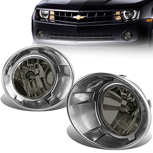 Chevy Camaro Pair of Bumper Driving Fog Lights (Smoked Lens) Camaro Park Light Lens