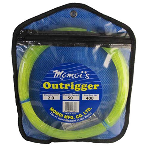 Momoi Outrigger Monofilament Rigging Kit - 400 lbs. Line Test - Hi-Vis Yellow ()