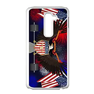 US flag and eagle sign Cell Phone Case for LG G2