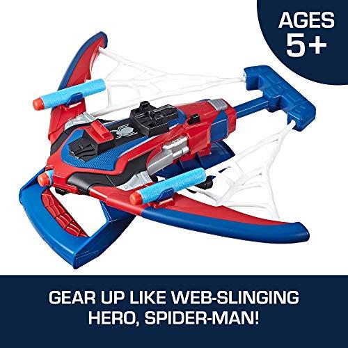 51pcCV8oB6L - Spider-Man Web Shots Spiderbolt Nerf Powered Blaster Toy for Kids Ages 5 & Up