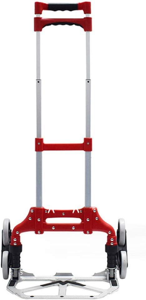 LYJCS Carro Plegable Carro Plano de aleación de Aluminio Carro portátil Carro de Escalada logística Carga máxima 80 kg: Amazon.es: Jardín