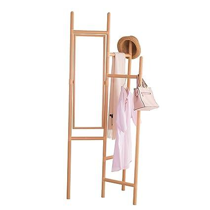 Amazon.com: Baoyouni Foldable Garment Rack Coat Hanger Hall ...