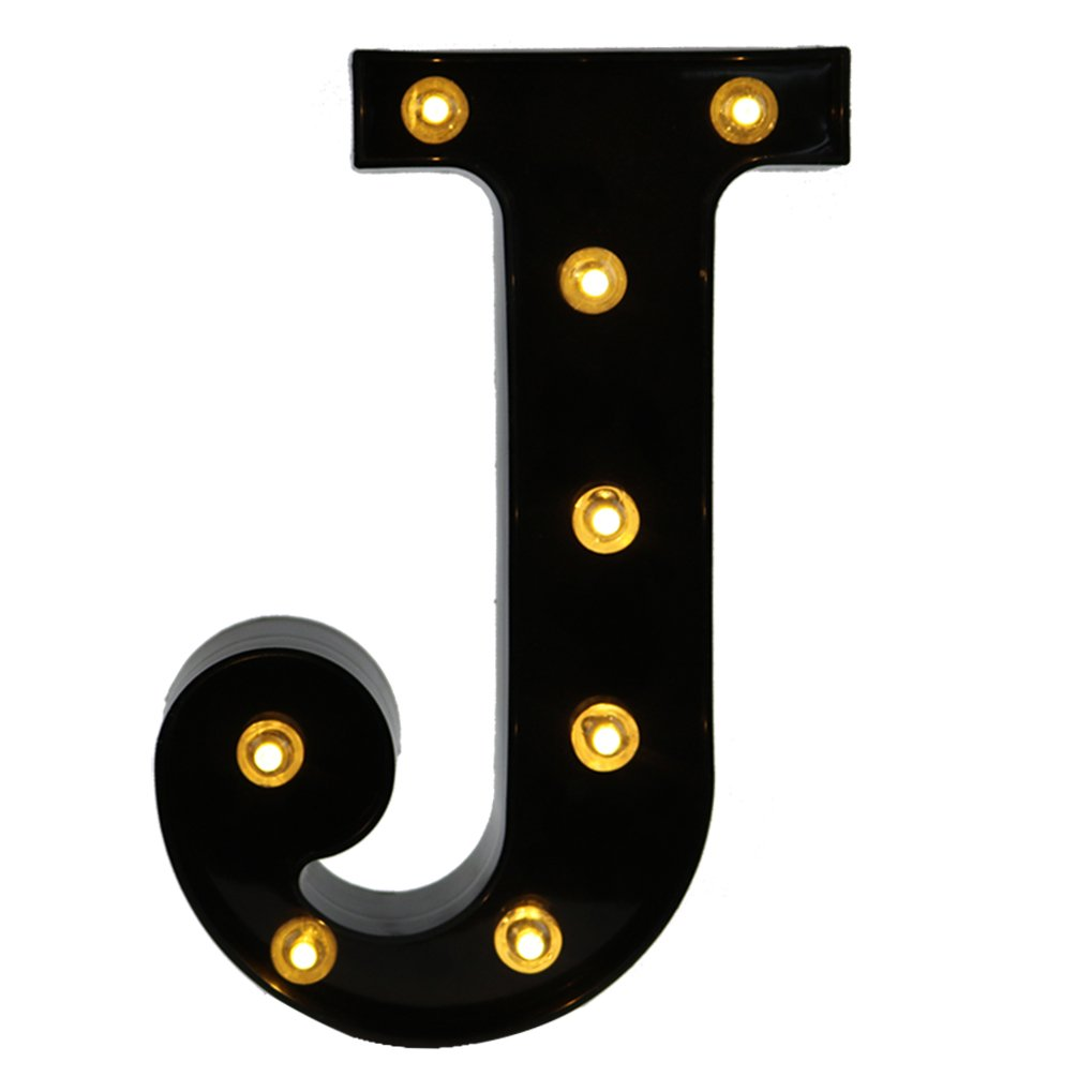 DELICORE Decorative LED Illuminated Letter Marquee Ampersand Sign - Alphabet Marquee Letters Ampersand with Lights for Wedding Birthday Party Christmas Night Light Lamp Home Bar Decoration &, Black JUHUI JH-BLC-27