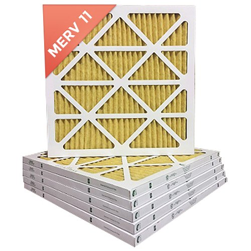 16x16x1 MERV 11 ( MPR 1000 ) Air Filters for AC and Furnace. Qty 6 by Filters Delivered