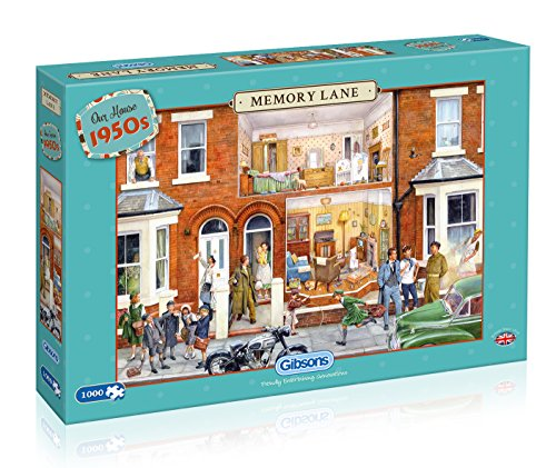 Gibsons Memory Lane Our House 1950s Jigsaw Puzzle (1000 Pieces)