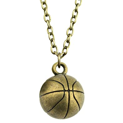 newme 3d baloncesto charms metal cadena collar para Souvenir hecho ...