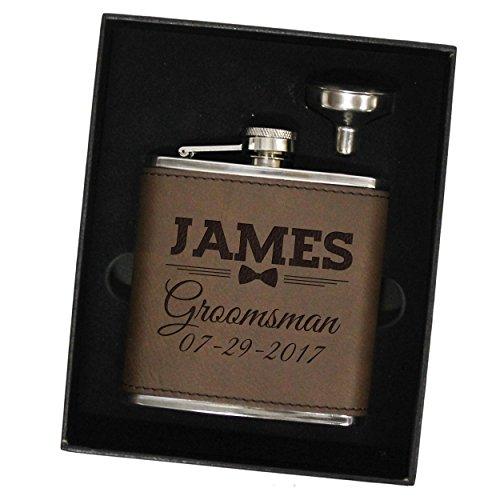 Personalized Flask Set Groomsmen Monogrammed product image