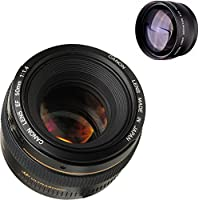Canon 50mm 1.4 Portrait Lens + High Definition Telephoto Auxiliary Lens
