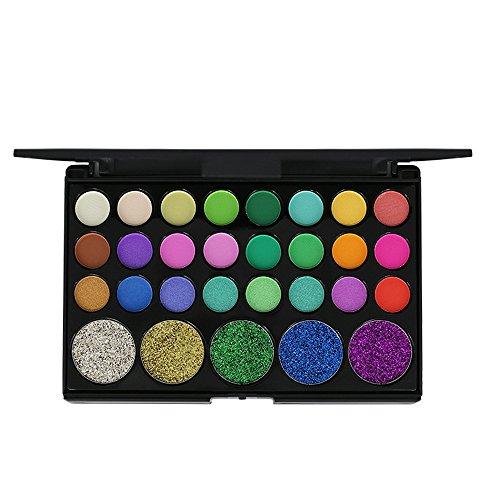 Shimmer Glitter Eye Shadow Powder Palette Matte Eyeshadow for Women Cosmetic Makeup Case Set 2019 New [29 Color] -
