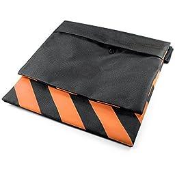 Neewer Set of Four Black/Orange Heavy Duty Sand Bag Photography Studio Video Stage Film Sandbag Saddlebag for Light Stands Boom Arms Tripods