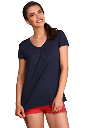 aebc362a Jockey Women's V-Neck Sleep T-Shirt: Amazon.in: Clothing & Accessories