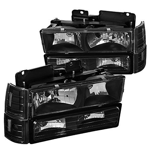 Euro with Corner Bumper Lights Spec-D Tuning LBCLH-GMC94JM-SY Black Headlight