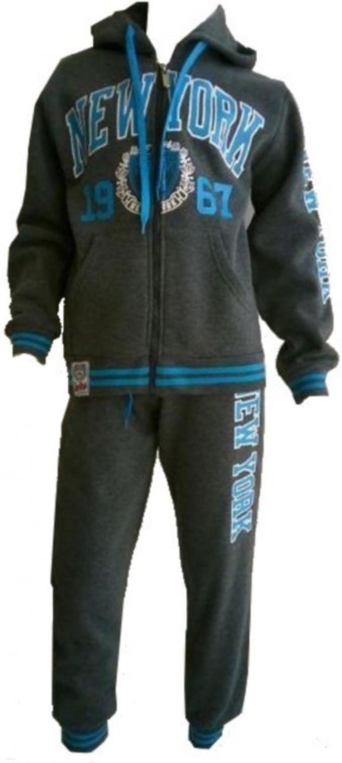 Fashion-Chándal para niño, diseño de Nueva York, color gris talla ...