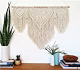 Macrame Wall Decor Hanging - Bohemian Home Geometric Art Decor - Beautiful Apartment Dorm Room Decoration-Macrame Curtain-Macrame Wedding Backdrop, W 42 x L 38 Inch