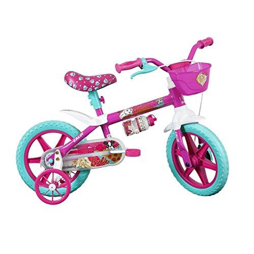 Bicicleta Infantil Caloi Barbie Aro 12 - Rosa