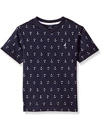 Boys' Short Sleeve V-Neck Printed Shirt