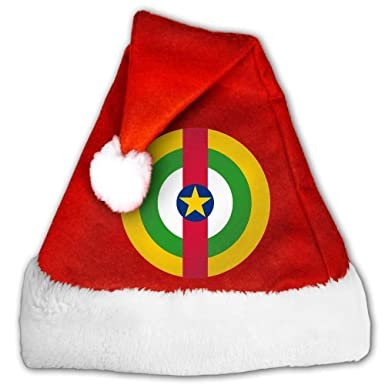 Clothing & Accessories hualianghefengshangmao Roundel of The Central African Christmas Santa Hats Holiy Decorations Hats Nice Christmas Tree Hat Costumes & Accessories