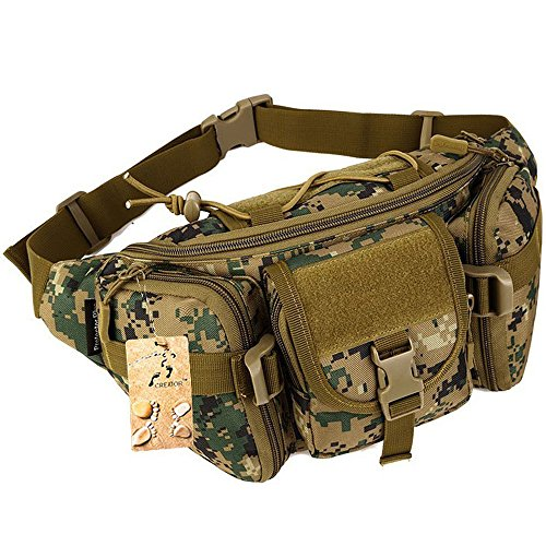 Tactical Waist Pack CREATOR Portable Fanny Pack Outdoor Hiking Travel Large Army...