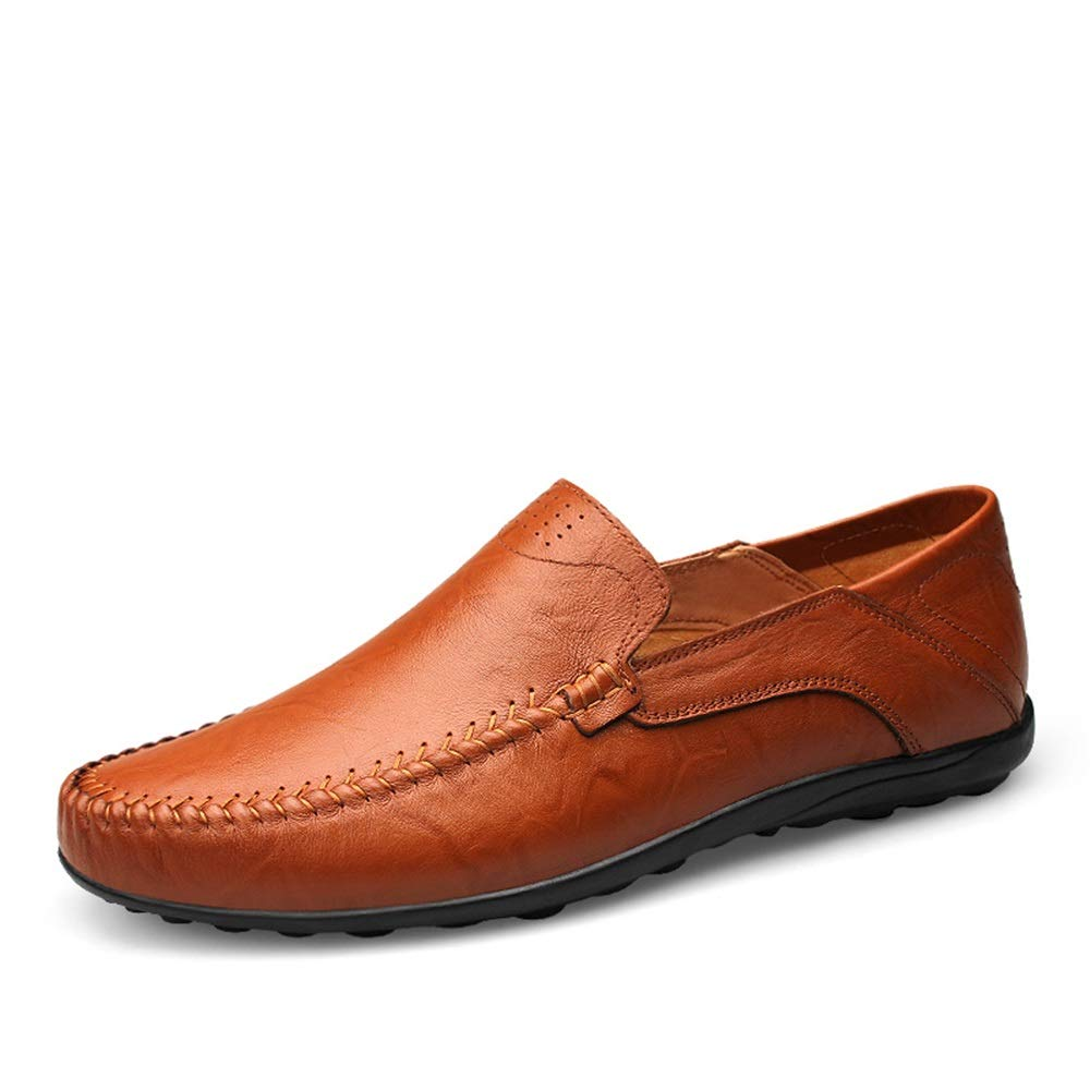Brown Men's Casual shoes Casual Solid color Soft and Light Boat Moccasins Cricket shoes