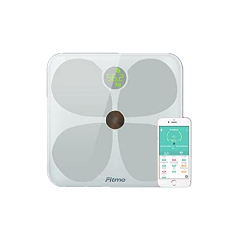 PLYY Báscula de baño Digital/Balanza electrónica de Gama Alta Diseño Minimalista Regalos 12 Funciones