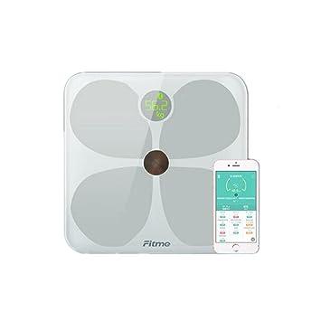 PLYY Báscula de baño Digital/Balanza electrónica de Gama Alta Diseño Minimalista Regalos 12 Funciones de detección de Datos Bluetooth App Regalo electrónico ...
